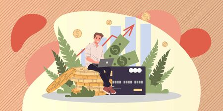 Business solutions for finance vector illustration