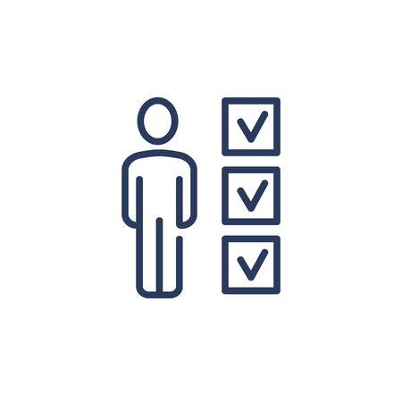 Candidate analysis thin icon