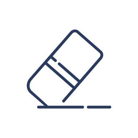 Eraser tool thin line icon. Rubber, error, control isolated outline sign. Image editing and photo correction concept. Vector illustration symbol element for web design and apps Vettoriali