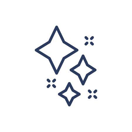 Star shining glitter thin line icon