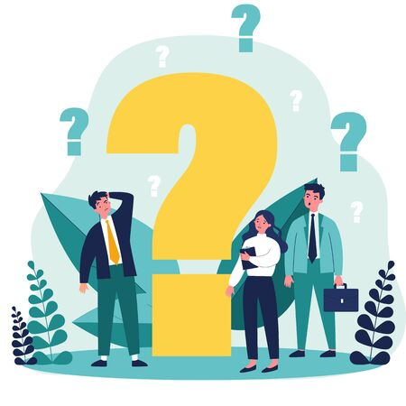 Confused businesspeople asking questions Vektorové ilustrace