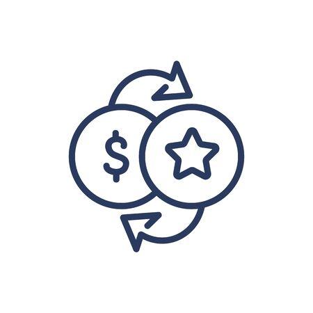 Bonus for purchase thin line icon