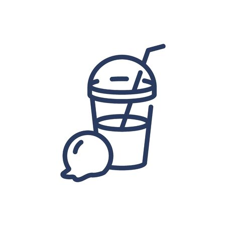 Milkshake thin line icon Ilustração