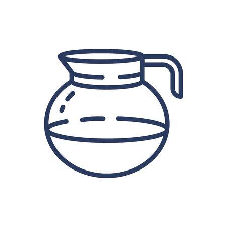 Coffee pot thin line icon