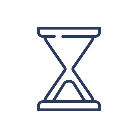 Hourglass thin line icon. Sand, particle, glass isolated outline sign. Time and measurement concept. Vector illustration symbol element for web design and apps Illusztráció