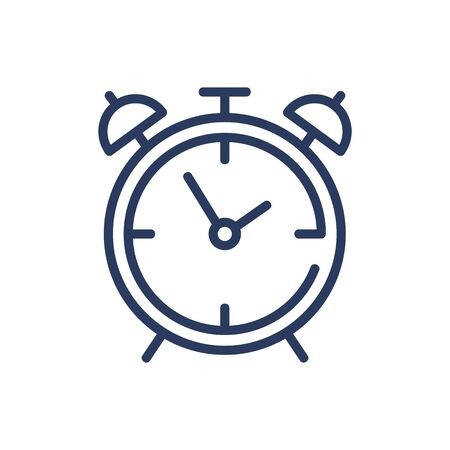 Wake-up clock thin line icon. Alarm, morning, getting up isolated outline sign. Time and measurement concept. Vector illustration symbol element for web design and apps