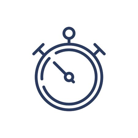 Stopwatch thin line icon. Timer, buttons, deadline isolated outline sign. Time management or planning concept. Vector illustration symbol element for web design and apps