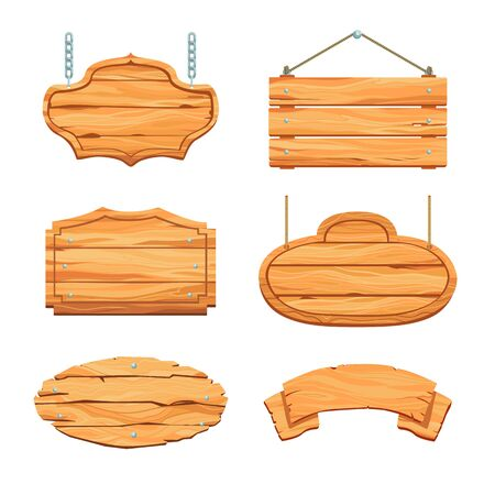 Rustic wooden boards set