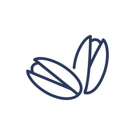 Pistachio thin line icon Illustration