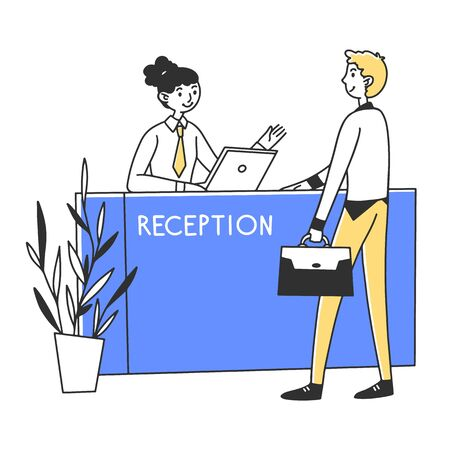 Manager providing services to customer