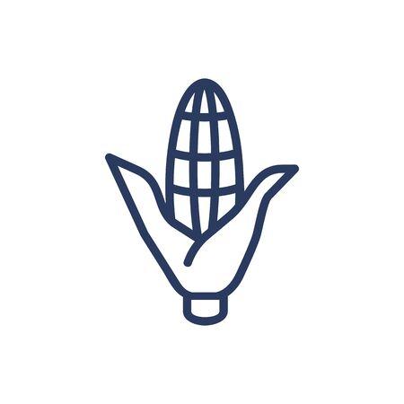 Maize thin line icon