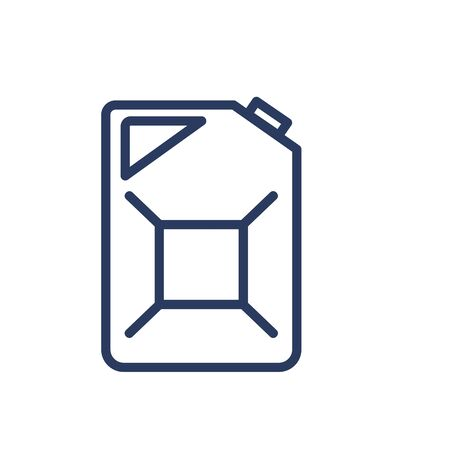 Gasoline can thin line icon. Storage, tank, container isolated outline sign. Oil and gas industry concept. Vector illustration symbol element for web design and apps
