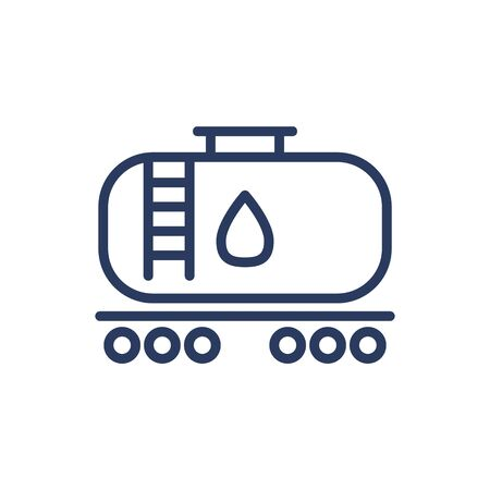 Oil storage tank thin line icon. Extraction, reservoir, transportation isolated outline sign. Oil and gas industry concept. Vector illustration symbol element for web design and apps
