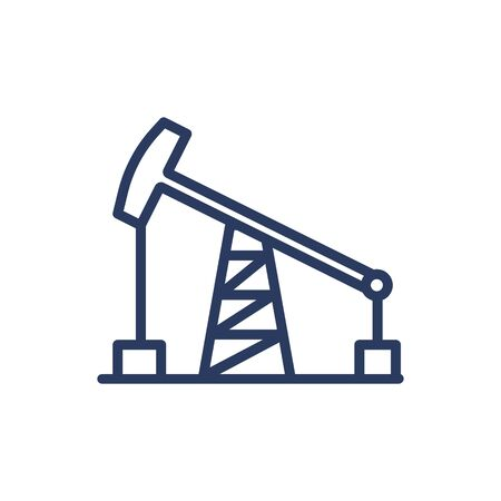 Pump for oil extraction thin line icon