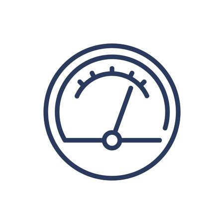 Measuring device thin line icon