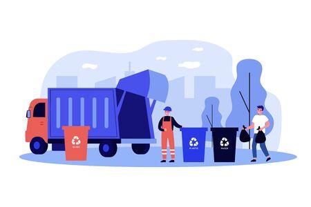 Trash collection transport Vektorgrafik