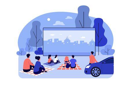 Outdoor cinema theater big screen