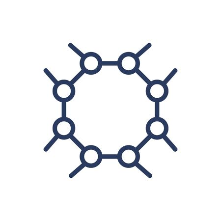 Molecule chain thin line icon