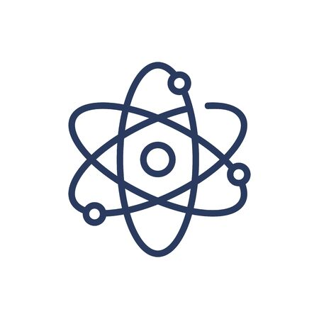 Molecule, protons, neutrons thin line icon. Formula, particle, nucleus isolated outline sign. Chemistry and science concept. Vector illustration symbol element for web design and apps Illusztráció
