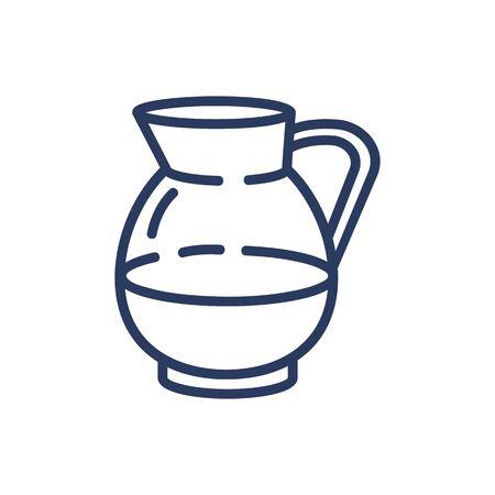 Jug of milk thin line icon