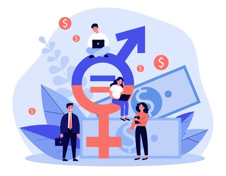 Employees gender salary equality Standard-Bild