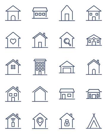 Home line icons set