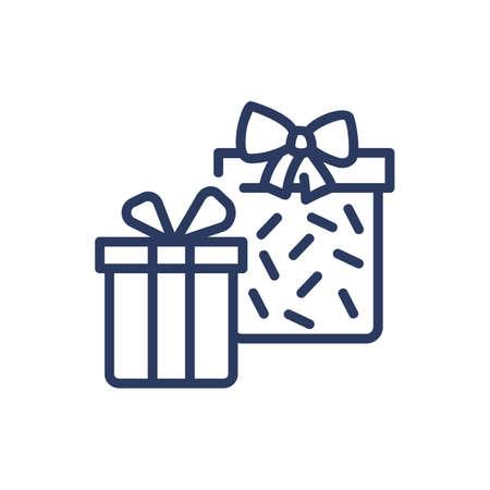 Present boxes thin line icon Ilustrace