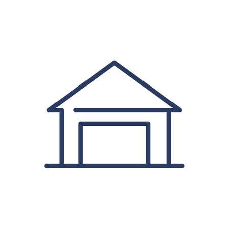 Garage thin line icon