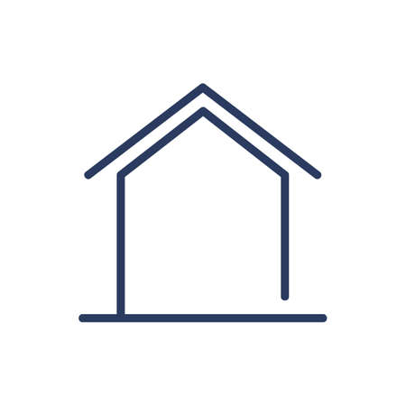 Home shape thin line icon