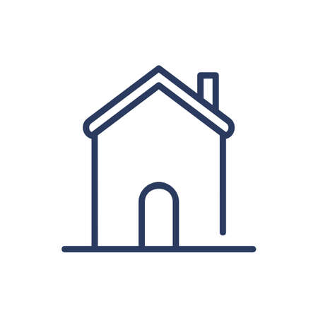 Historical construction thin line icon. Church, landmark, traditional building isolated outline sign. Architecture, real estate, property concept. Vector illustration symbol element for web design