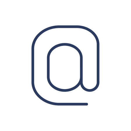 Email symbol thin line icon
