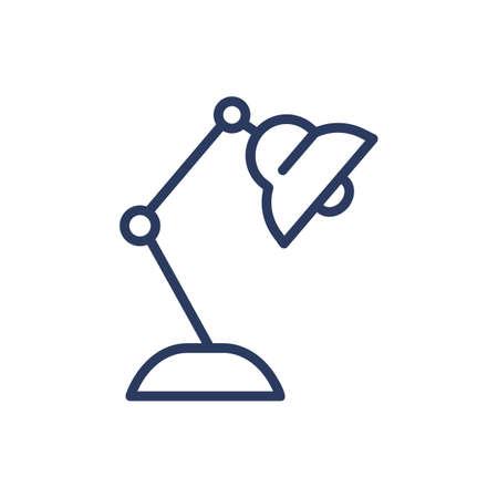 Desk lamp thin line icon