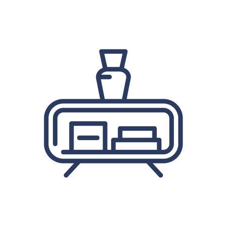Cupboard thin line icon Illusztráció