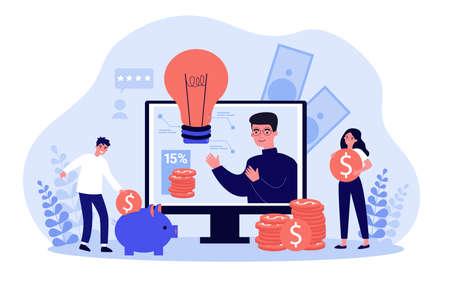 People saving cash Ilustrace
