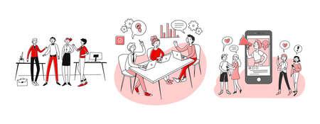 Business communication set