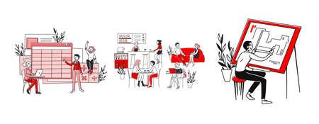 Workplaces and occupation set Reklamní fotografie