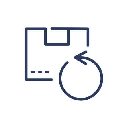 Cargo circulation thin line icon. Package, box, parcel isolated outline sign. Delivery service and storage concept. Vector illustration symbol element for web design and apps