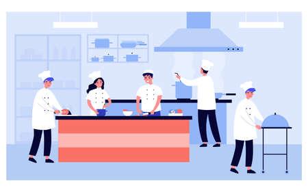 Professional cooking kitchen interior Vector Illustratie