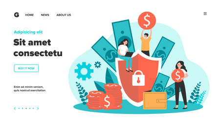 Money insurance concept