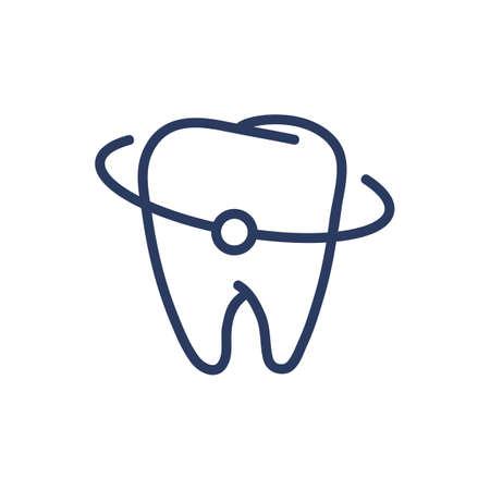 Teeth protection thin line icon Ilustrace