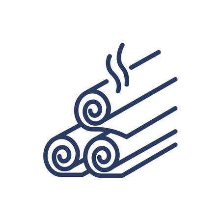 Spa towels thin line icon