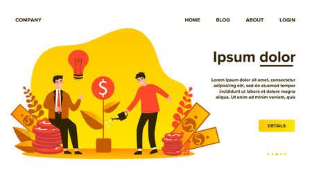Investors getting money profit Ilustração