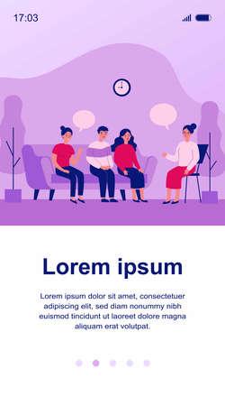 Group therapy conversation Ilustração