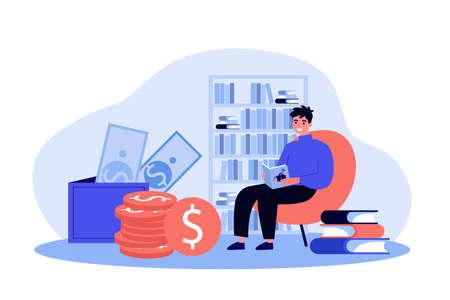 Student studying finance Ilustração
