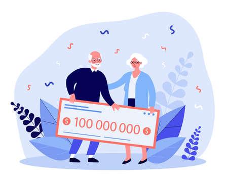 Senior couple winning lottery