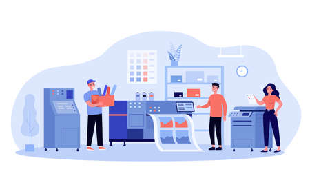 Print production concept Ilustração