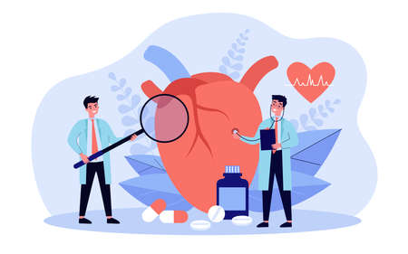 Heart disease research concept