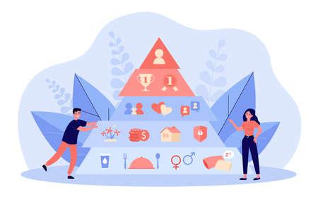 Hierarchy pyramid concept