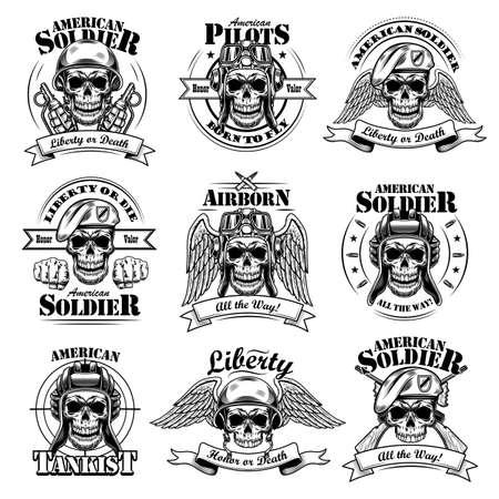 Army emblems set Иллюстрация