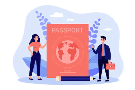 Tiny people travelling with foreign passport